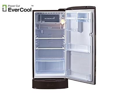 LG GL-D201AHAZ.AHAZEBN Direct-cool Single-door Refrigerator (190 Ltrs, 5 Star Rating, Hazel Aster)