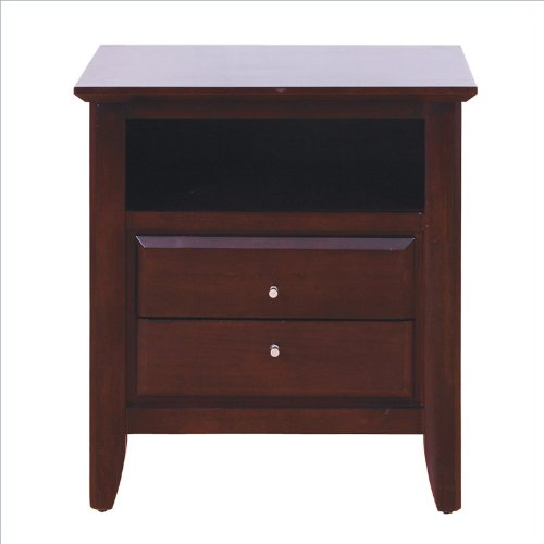 Modus Furniture City II Two Drawer Nightstand,