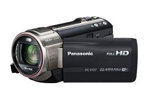 Panasonic HC-V727EG-K Camcorder mit Mikrofon (7,6 cm (3 Zoll) LCD-Display MOS-Sensor, 20,4 Megapixel Foto Auflösung , Full HD, 21-fach opt. Zoom, USB 2.0) schwarz