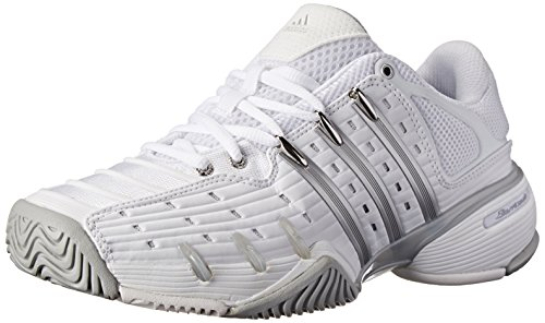 adidas Performance Women's Barricade V Classic W Tennis Shoe, White/Silver/Onix, 9 M US