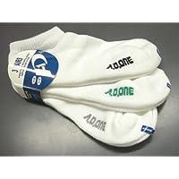 AD-175P メンズスポーツソックス スニーカータイプ 白 3足組 吸汗速乾 衝撃吸収 抗菌防臭加工 靴下 3足セット