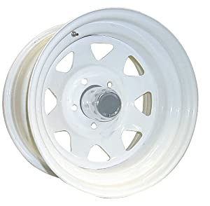 Pro Comp Wheels 82-5865 Rock Crawler Series 82 White Powder Wheel; Size 15x8; Bolt Pattern 5x4.5; Back Space 3.75 in.;
