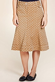 Per Una Cotton Rich Spotted Denim Skirt