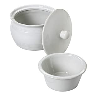 Norpro 3 Piece Stoneware Stay Cool Warm Dip Server Set