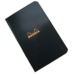 Rhodia Staplebound Notebooks graph, black cover 3 in. x 4 3/4 in. 24 sheets