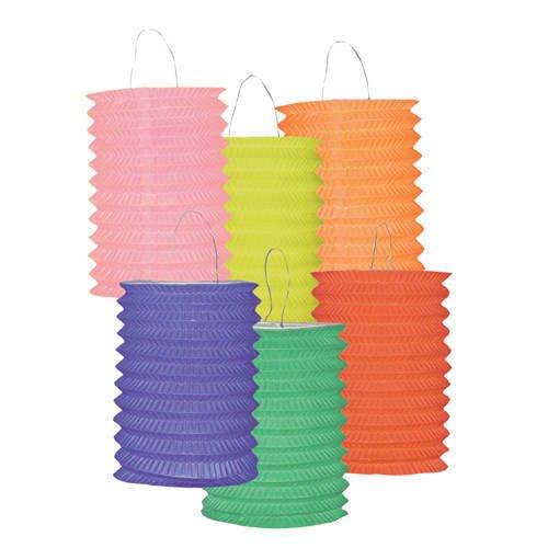 12 Lampions colorés