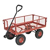 CST997 Platform Truck with Sides Pneumatic Tyres 200kg Capacity