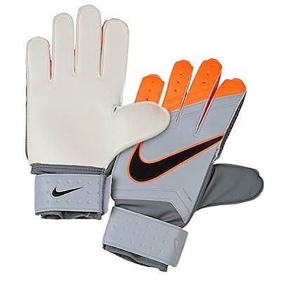 Nike Match Goalkeeper Soccer Goalkeeper Gloves (Cool Grey, Total Orange)