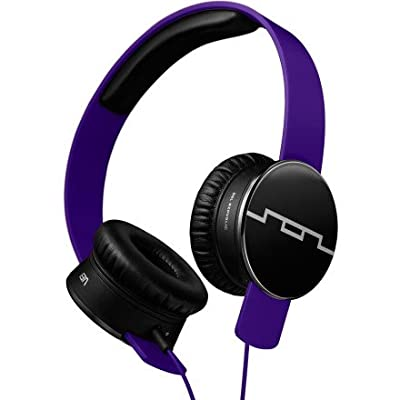 Sol Republic Tracks Headphones Progressive Purple, 1-Button Mic