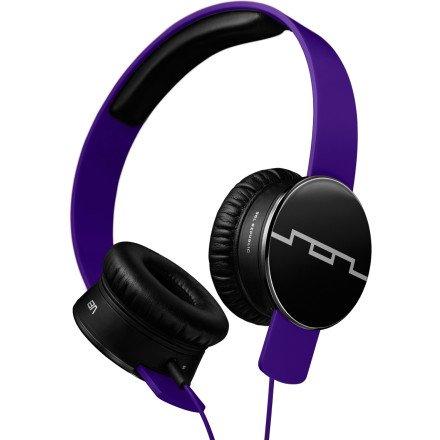 Sol Republic Tracks Headphones Progressive Purple, 1-Button Mic