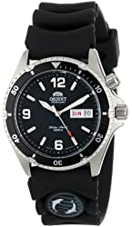 Orient Men's CEM65004B Black Mako Stainless Steel Automatic Watch with Black Rubber Band