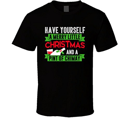 have-yourself-merry-christmas-and-pint-of-chimay-beer-party-gift-t-shirt-xl-black