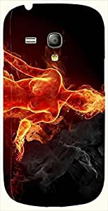 Pretty multicolor printed protective REBEL mobile back cover for S3 Mini / Samsung I8190 Galaxy S III mini D.No.N-L-10339-S3M