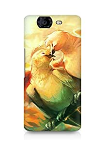 Amez designer printed 3d premium high quality back case cover for Micromax Canvas Knight A350 (Love birds)