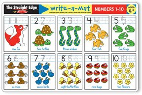 Numbers 1-10 Write-A-Mat - (Child) - 1