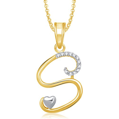 94 off on meenaz gold plated s letter pendant locket alphabet meenaz gold plated s letter pendant locket alphabet heart for men and women with aloadofball Gallery