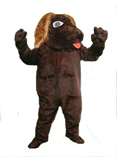 Mascots USA by CJs Huggables Custom Pro Low Cost Brown Dog Mascot Costume