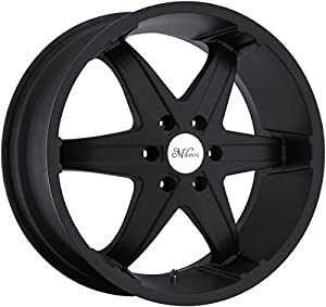 Milanni Kool Whip 6 24 Black Wheel / Rim 5x4.5 with a 18mm Offset and a 83 Hub Bore. Partnumber 446-24965GB18
