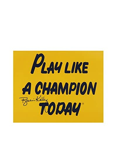 Steiner Sports Brian Kelly Signed Play Like A Champion Today Photo