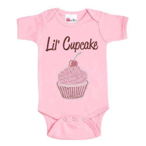 Lollipop Moon Rhinestone Cupcake Baby Creeper front-914919