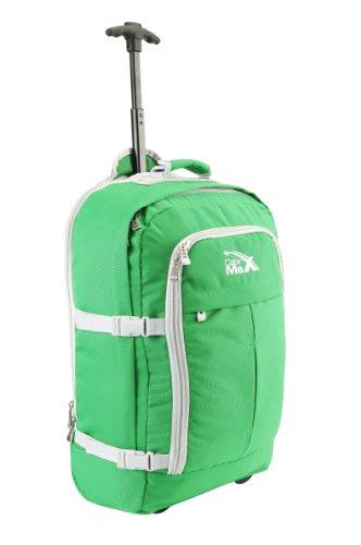 Lyon Flugzugelassenes Handgepäck Rucksack Tasche - 44L Rollengepäck - grun/grau