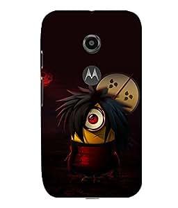 printtech Minions Anime Back Case Cover for Motorola Moto E2::Motorola Moto E (2nd Gen)