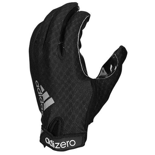 Adidas Adult Adizero 5Star 3.0 Receiver Gloves , Black/Black, XL pro biker mcs 03 motorcycle racing full finger warmer gloves blue black grey size xl pair