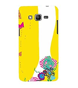 Printvisa Animated Floral Footwear For Girls In A Yellow Background 3D Hard Polycarbonate Designer Back Case Cover For Samsung Galaxy Grand Prime G530H