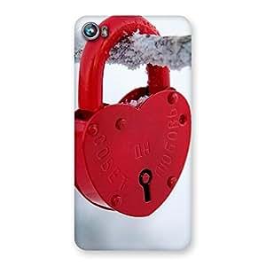 Cute Red Lock Multicolor Back Case Cover for Micromax Canvas Fire 4 A107