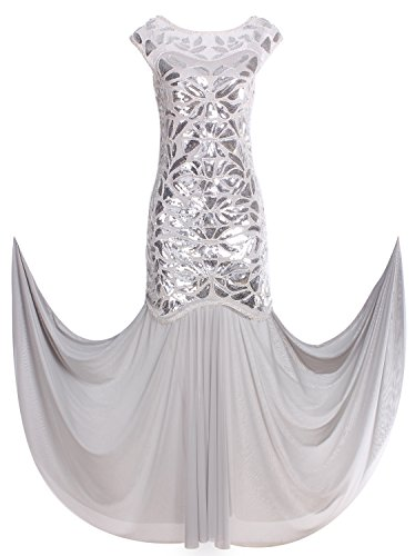 4fa274e82e494 Vijiv 1920s Long Prom Dresses Sequins Beaded Art Deco Evening Party ...