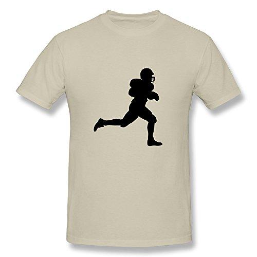 Jeff Men Football Player T-Shirt Natural Large