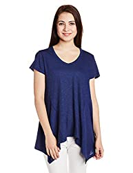 Chemistry Women's Body Blouse Top (C16-124KTTOP_Navy_Small)