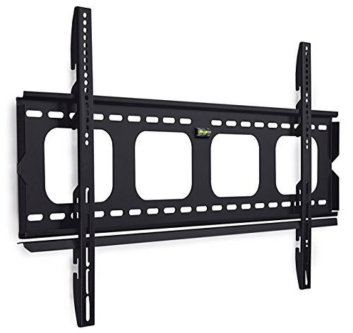 Mount-It! MI-305L Premium Low-Profile Fixed TV Wall Mount Bracket for 42 – 70 inch LCD, LED, 4K or Plasma Flat Screen TVs – Super-strength Load Capacity 220 lbs, TV Stays 1 inch from the Wall, Max VESA 850×450