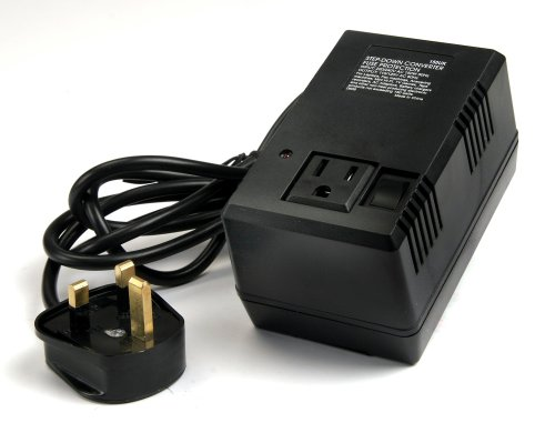 Vct Vtm-150Uk - Deluxe 220V/240V Step Down Travel Voltage Converter To Use Usa Products In Uk - Good For Laptops & Chargers Etc.
