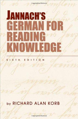 Jannach's German for Reading Knowledge