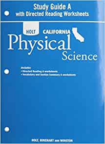 holt science technology california study guide a with directed reading worksheets grade 8. Black Bedroom Furniture Sets. Home Design Ideas