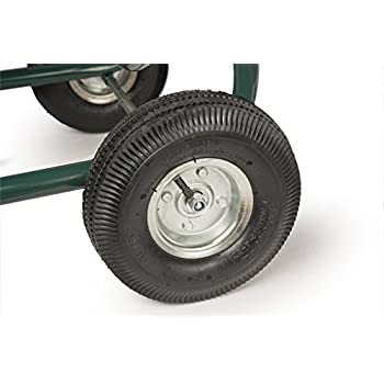 Liberty Garden Products 872-2 Residential 4-Wheel Steel Garden Hose Reel Cart, Holds 350-Feet of 5/8-Inch Hose - Green