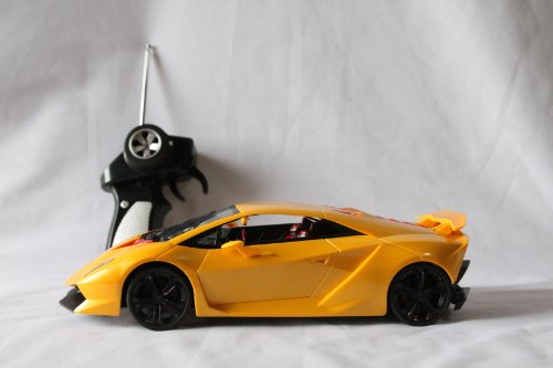 2013 Lamborghini Sesto Elemento 118 Scale Radio Remote Wireless Controlled Car in GOLDEN YELLOW Color - Official Licensed Product by Wonders Shop USA