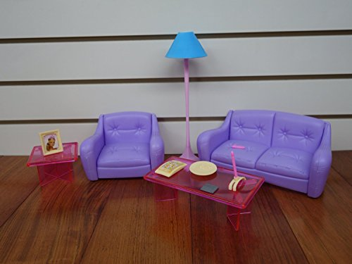 Barbie Size Dollhouse Furniture Living Room With Tv Dvd Set Show Case