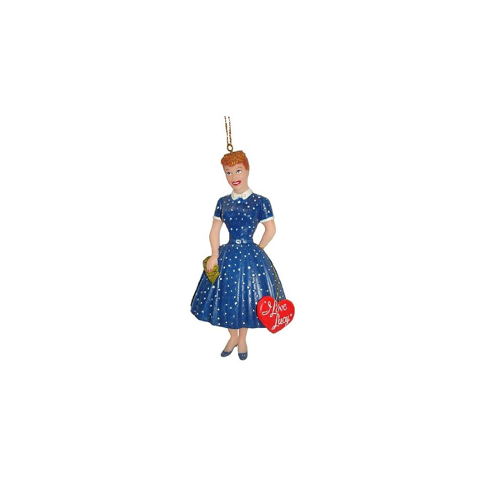 I Love Lucy Lucille Ball Blue Dress with Heart Christmas Ornament #J2521