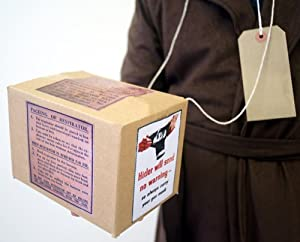 WW2-WARTIME-BLITZ-EVACUEE Replica Gas mask Box & Label set FANCY DRESS ACCESSORY