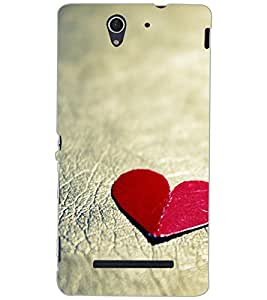 SONY XPERIA C3 HEART Back Cover by PRINTSWAG