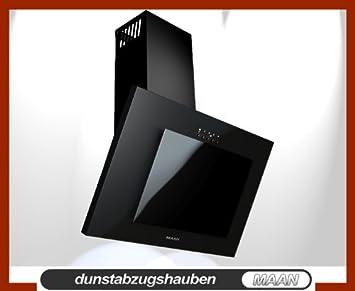 Stehle Filmscheinwerfer dunstabzugshaube maan vertical 50 cm schwarz schwarz glas led