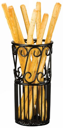 American Metalcraft (TBS38) Wrought Iron Breadstick Basket (Wrought Iron Bread Basket compare prices)