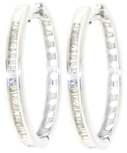 Attractive 925 Sterling Silver Ladies Fancy Diamond Drop Earrings Brilliant Cut 0.25 Carat I-I1 - 16mm*2mm