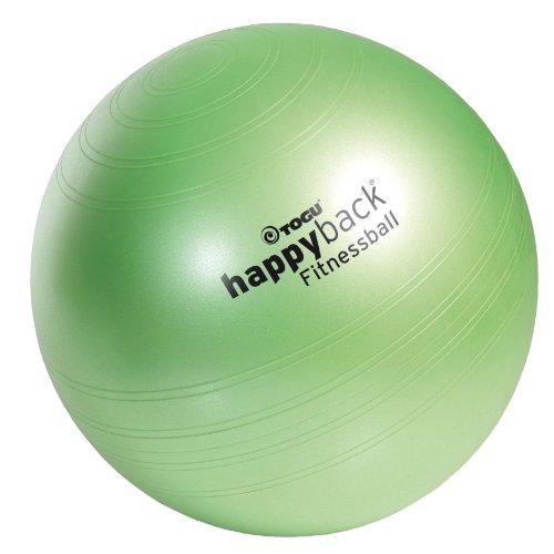 TOGU Happyback, Palla da fitness 427650, Verde (frühlingsgrün), 75 cm