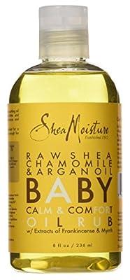 Shea Moisture Baby Oil Rub 8oz Raw Shea Chamomile & Argan Oil