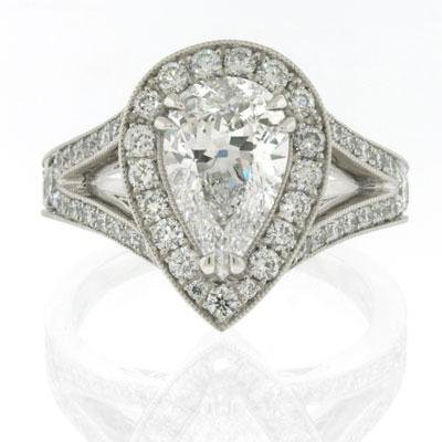 2.80ct Pear Shape Diamond Engagement Anniversary