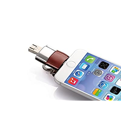 YELLOWSTONE 3-in-1(iPhone,Android and PC) Multi-Functional Flash Drive. USB 3.0, Micro-USB 32GB For Android Phone...