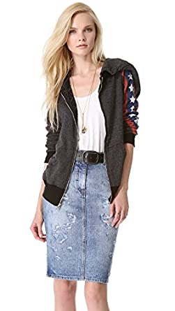 Wildfox Women's Sir Yes Sir Track Jacket, Clean Black, X-Small